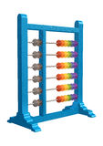 Abacus. 3D digital render of an abacus isolated on white background Royalty Free Stock Images