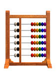 Abacus. 3D digital render of an abacus isolated on white background Stock Image