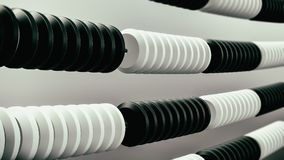 Abacus white and black 3d illustration Royalty Free Stock Photo