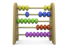Abacus - 3D. 3d Abacus on white background Stock Photo