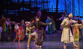 """Abacus dance-Dance drama """"The Dream of Maritime Silk Road"""". Dance drama """"The Dream of Maritime Silk Road"""" centers on the plot of two generations Royalty Free Stock Photo"""