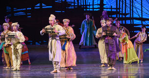 """Abacus dance-Dance drama """"The Dream of Maritime Silk Road"""". Dance drama """"The Dream of Maritime Silk Road"""" centers on the plot of two generations of a Royalty Free Stock Photo"""