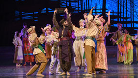 """Abacus dance-Dance drama """"The Dream of Maritime Silk Road"""". Dance drama """"The Dream of Maritime Silk Road"""" centers on the plot of two generations of a Stock Images"""