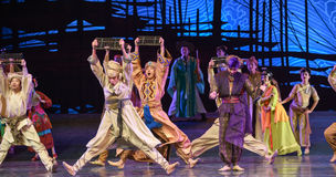 "Abacus dance-Dance drama ""The Dream of Maritime Silk Road"" Stock Photos"