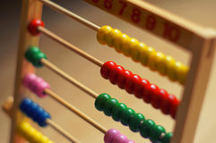 Abacus in detail. Colored abacus calculator in detail Stock Photography