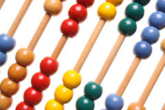 ABACUS DIAGONAL. Abacus on isolated white background for counting Stock Photography