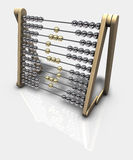Abacus Dollar. 3d rendering of an abacus with a dollar symbol Royalty Free Stock Photo