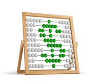 Abacus dollar green. Abacus with dollar sign isolated on white background Royalty Free Stock Photo