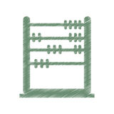 Abacus education isolated icon Stock Photos