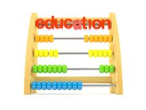 Abacus with education text. On white background Stock Photography
