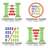 Abacus Finance Concept Logo Royalty Free Stock Image