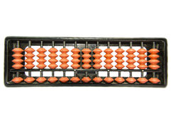 Abacus Full View. Complete abacus in full view. It is two step beads system which is used for calculating. Isolated on white background royalty free stock image