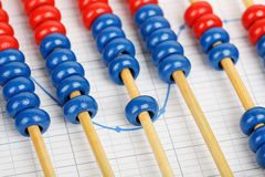 Abacus on graph Royalty Free Stock Photo