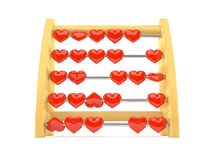 Abacus with hearts. Isolated on white background royalty free illustration