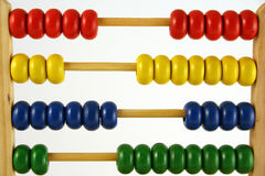 Abacus horizontal. Childrens abacus - calculator with all beads at random sides Stock Image