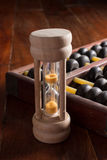 Abacus and hourglass,old tools. Stock Images