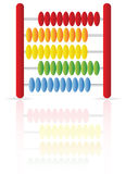 Abacus icon. An abacus icon isolated on white, with reflection Stock Photos