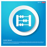 Abacus Icon Abstract Blue Web Sticker Button. Free vector icon stock illustration