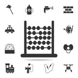 Abacus icon. Detailed set of baby toys icons. Premium quality graphic design. One of the collection icons for websites, web design. Mobile app on white Stock Photos