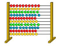 Abacus. A illustration of abacus Stock Photo