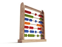 Abacus Isolated with Clipping Path Stock Image