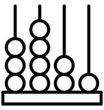 Abacus Isolated Line Vector Icon that can be easily modified or edited. vector illustration