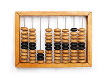 Abacus isolated over white Stock Image
