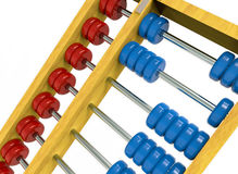 Abacus. Isolated on white background, clipping path included Stock Images