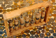 Abacus and money Stock Image