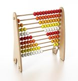 Abacus with multi colored beads isolated on white background. 3D illustration.  vector illustration
