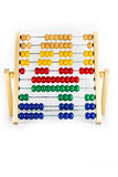 Abacus number 4 on white background royalty free stock photos