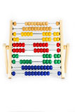 Abacus number 3 on white background stock photo