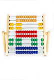 Abacus number 6 on white background stock photography