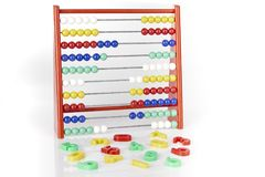 Abacus with numerics Royalty Free Stock Photos