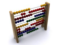 Abacus. Old abacus on isolated background Stock Photography