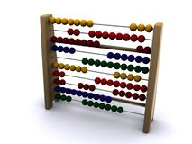 Abacus. Old abacus on isolated background Stock Image