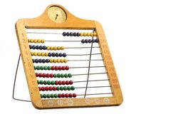 Abacus. Old abacus isolated on white background Royalty Free Stock Photography