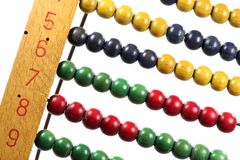 Abacus. Old abacus isolated on white background Royalty Free Stock Photos