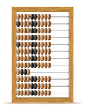 Abacus old retro vintage icon stock vector illustration. On white background Stock Photos