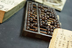 Abacus in old shop Stock Images