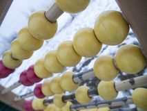 Abacus on a outdoor playground royalty free stock photo