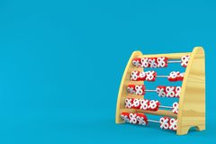 Abacus with percent symbols. Isolated on blue background. 3d illustration royalty free illustration