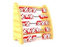 Abacus with percent symbols. On white background Royalty Free Stock Image