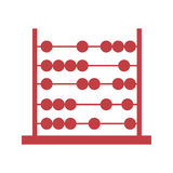 Abacus pictogram icon image Royalty Free Stock Photo