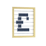 Abacus with pound sign Stock Photo
