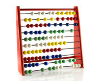 Abacus with red green blue and white balls Royalty Free Stock Photo