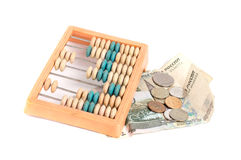 Abacus and russian money Stock Image