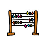 Abacus school isolated icon. Vector illustration design stock illustration