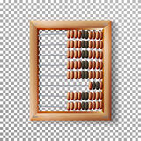 Abacus Set Vector. Classic Wooden Old Abacus. Arithmetic Tool Equipment. Isolated On Transparent Background Royalty Free Stock Images