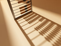 Abacus shadow. The abacus stand on brown plane and recieve shadow royalty free illustration